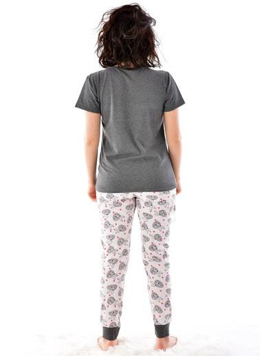 Pemilo Pijama Takım Füme